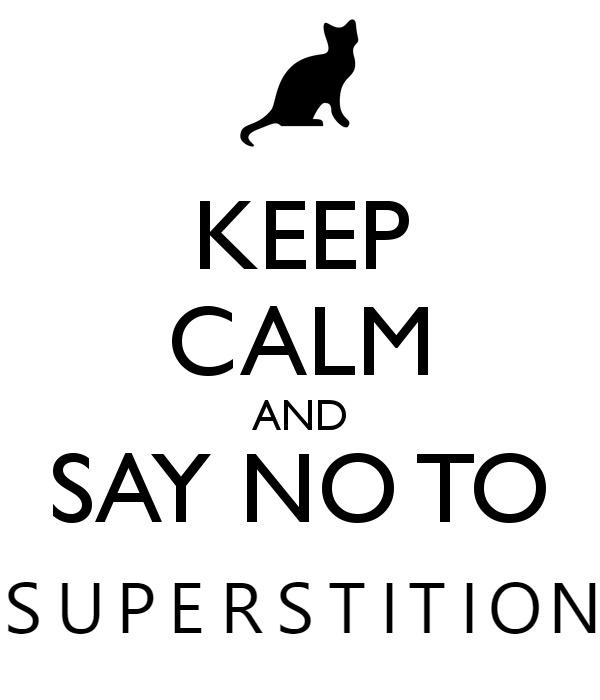 speech on superstitions