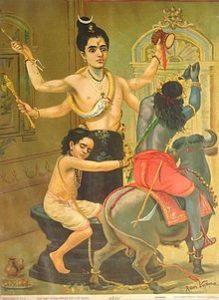 Lord Shiva saving Markandeya