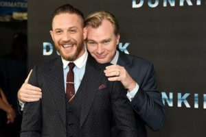 Tom Hardy and Christopher Nolan at an event for Dunkirk(2017)